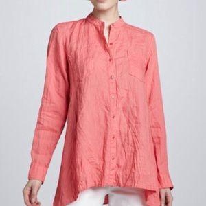 BOGO! Eileen Fisher Organic Irish Linen Button Shirt Blouse